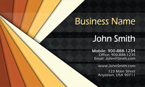 Black Personal Business Card - Design #1201271