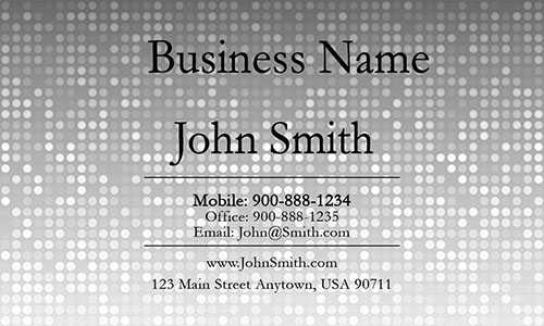 Gray Personal Business Card - Design #1201281