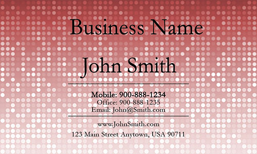 Red Personal Business Card - Design #1201282