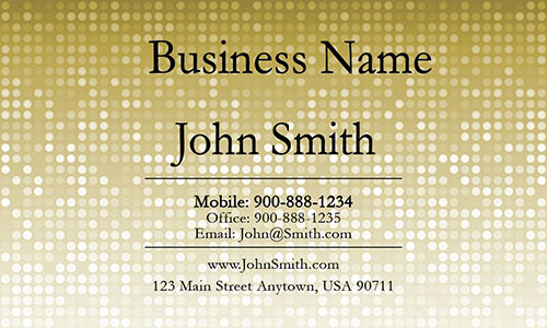 Yellow Personal Business Card - Design #1201283
