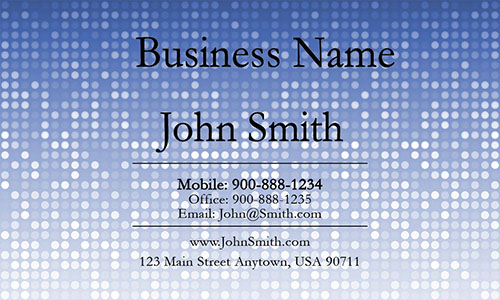 Blue Personal Business Card - Design #1201284