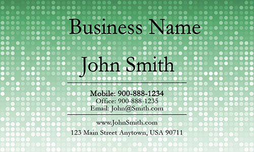 Green Personal Business Card - Design #1201285