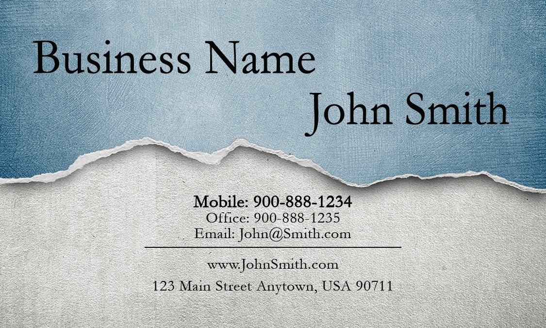 Blue Personal Business Card - Design #1201291
