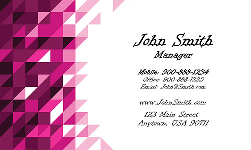 Red Triangles Visiting Card - Design #1201302