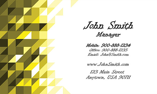 Gold Triangles Visiting Card - Design #1201303