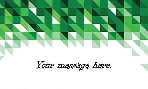 Green Triangles Visiting Card - Design #1201304