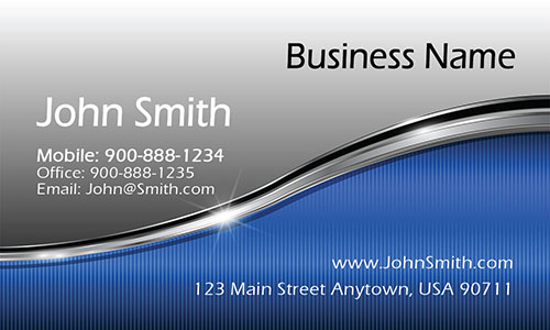 Blue Personal Business Card - Design #1201321