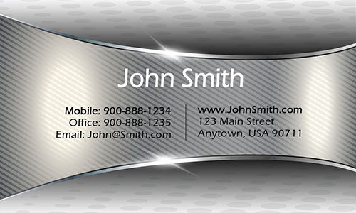 Gray Personal Business Card - Design #1201331