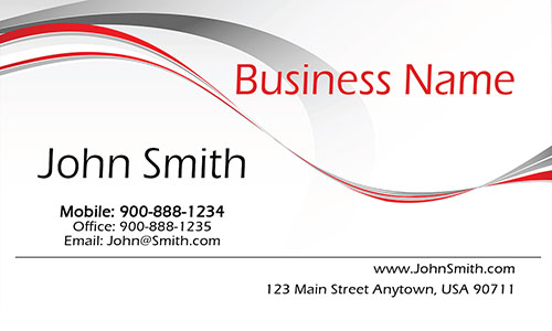 White Personal Business Card - Design #1201341