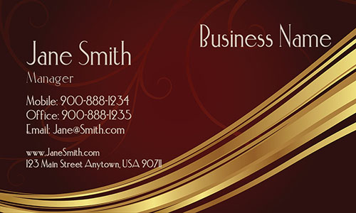 Brown Personal Business Card - Design #1201361
