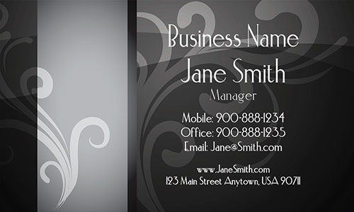 Gray Personal Business Card - Design #1201371