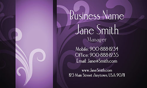 Pink Personal Business Card - Design #1201372