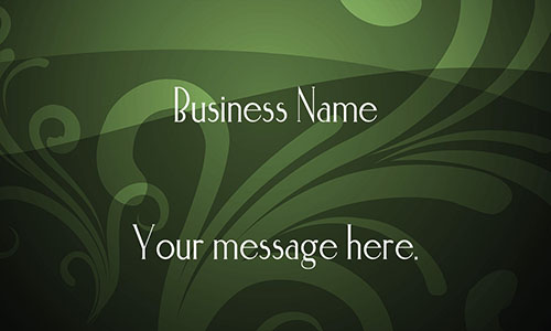 Green Personal Business Card - Design #1201373
