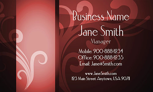 Red Personal Business Card - Design #1201375
