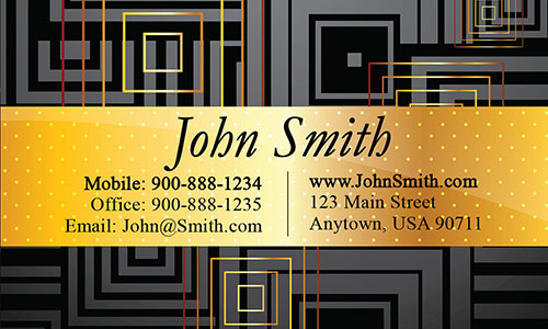 Yellow Personal Business Card - Design #1201401