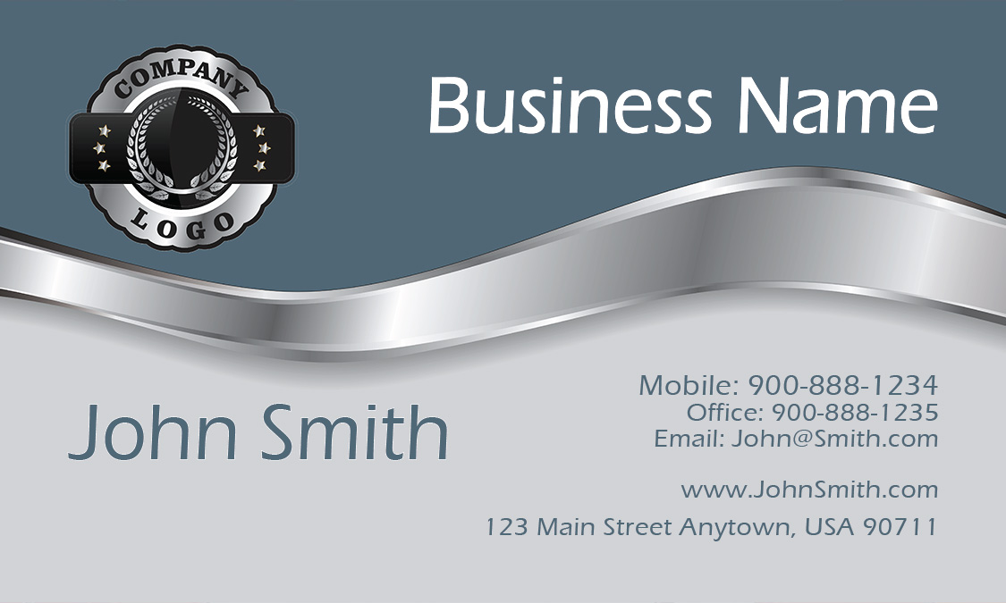 Blue Contractor Business Card - Design #1201431