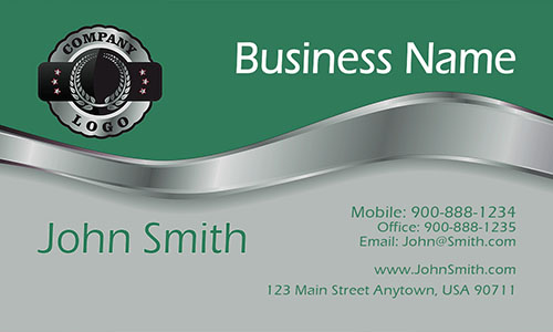Green Steel Contractor Business Card - Design #1201432