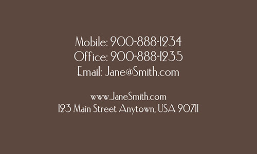 Brown Personal Business Card - Design #1201451
