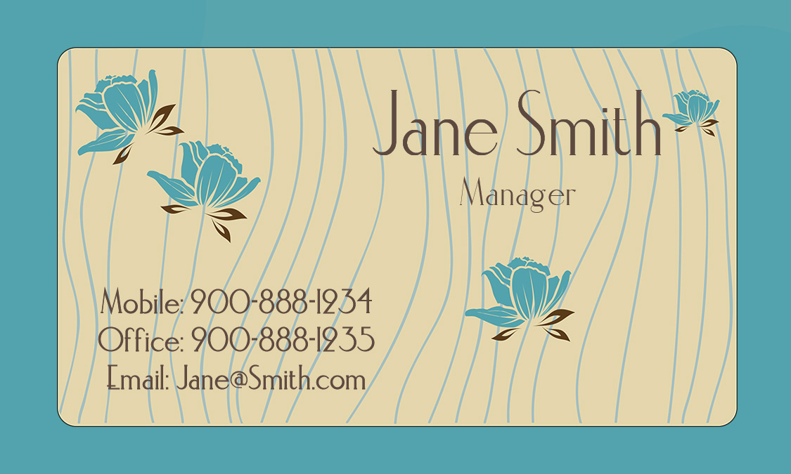 Blue Personal Business Card Design