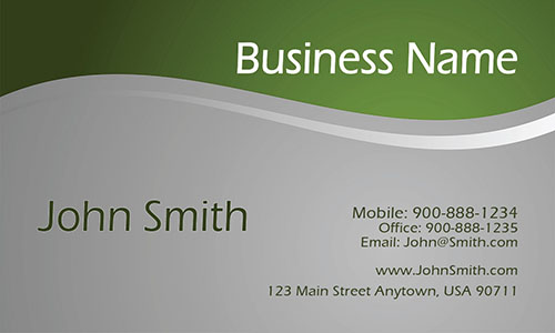 Green Personal Business Card
