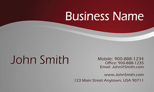 Red Personal Business Card - Design #1201492