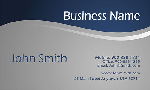 Blue Personal Business Card - Design #1201493