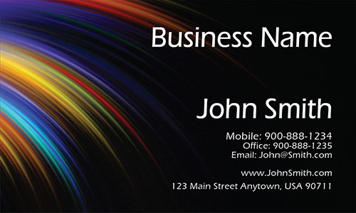 Black Personal Business Card - Design #1201501