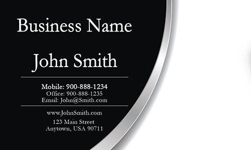 Black Personal Business Card - Design #1201511