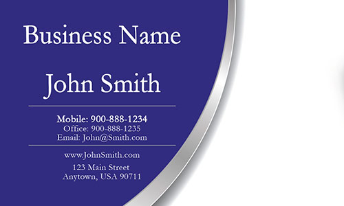 Blue Personal Business Card - Design #1201513
