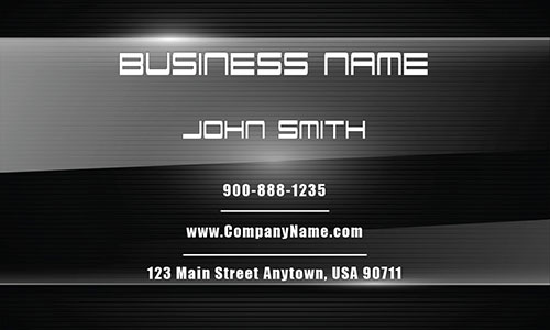 Black Personal Business Card - Design #1201521