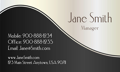 Black Personal Business Card - Design #1201531