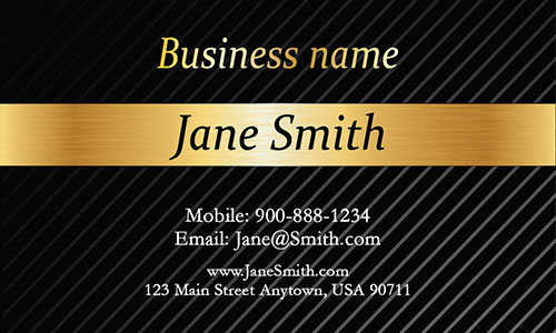Yellow Personal Business Card - Design #1201541