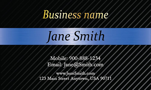 Blue Personal Business Card - Design #1201542
