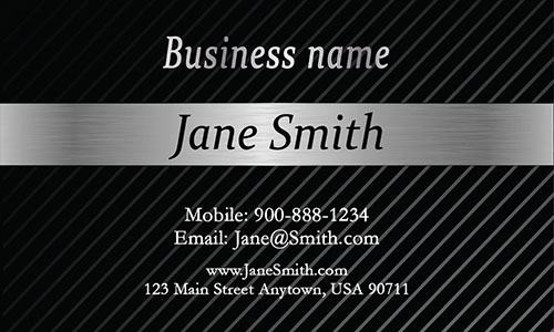 Gray Personal Business Card - Design #1201543