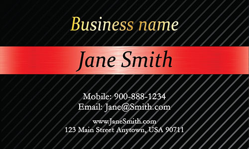 Red Personal Business Card - Design #1201544