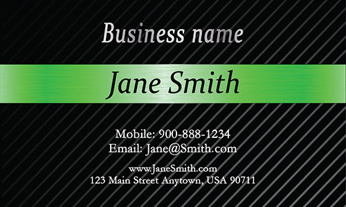 Green Personal Business Card - Design #1201545