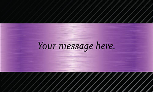 Purple Personal Business Card - Design #1201546