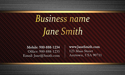 Red Personal Business Card - Design #1201551