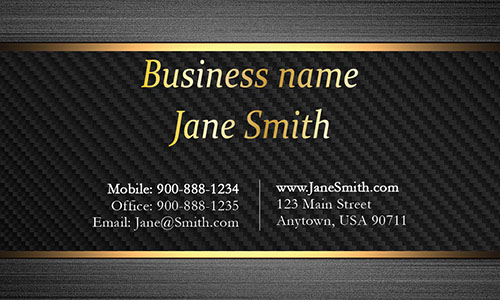 Black Personal Business Card - Design #1201552