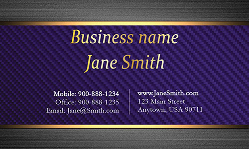 Blue Personal Business Card - Design #1201553