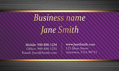 Purple Personal Business Card - Design #1201554