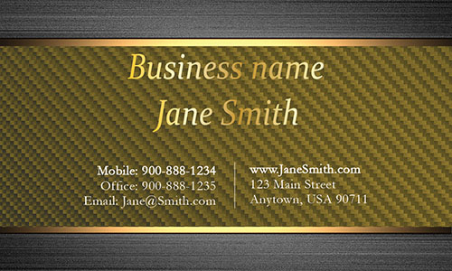 Yellow Personal Business Card - Design #1201556