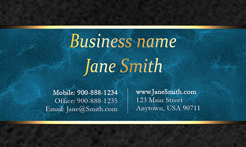 Blue Personal Business Card - Design #1201561