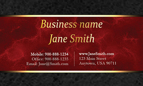 Red Personal Business Card - Design #1201562