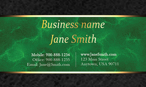 Green Personal Business Card - Design #1201563