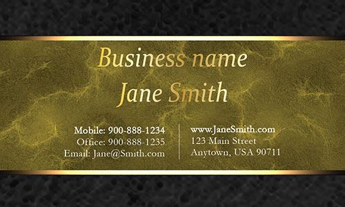 Yellow Personal Business Card - Design #1201565