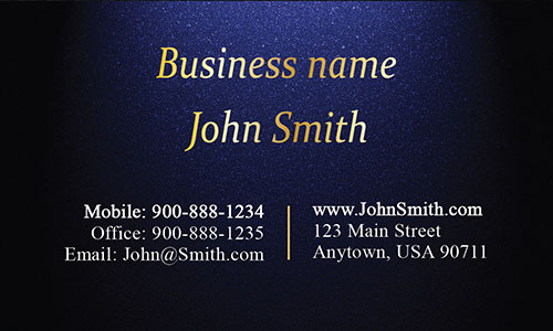 Blue Personal Business Card - Design #1201571