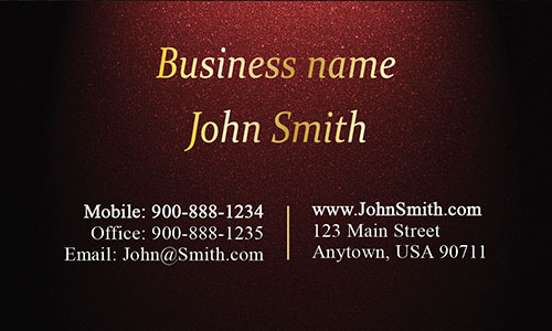 Red Personal Business Card - Design #1201572