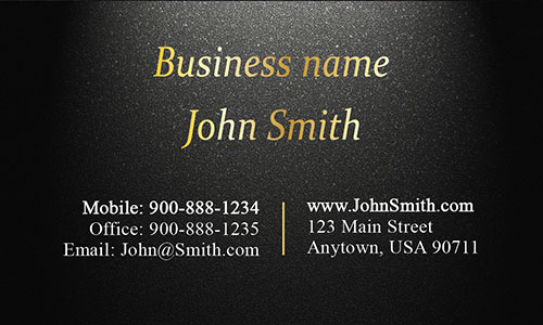Black Personal Business Card - Design #1201573