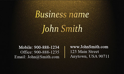Yellow Personal Business Card - Design #1201574